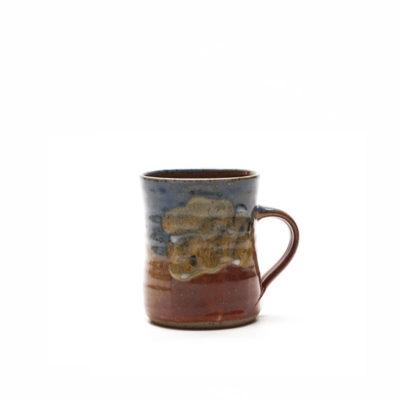 Kaffeebecher mit bunter Glasur