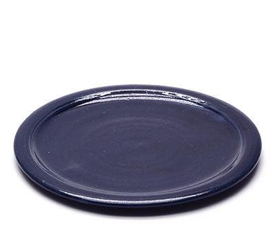 Teller mit blauer Glasur