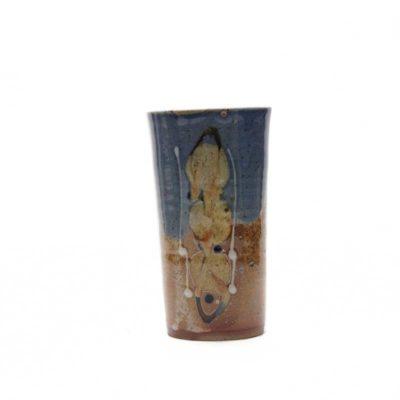 Vase mit bunter Glasur