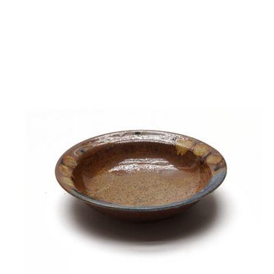 Suppenteller mit bunter Glasur