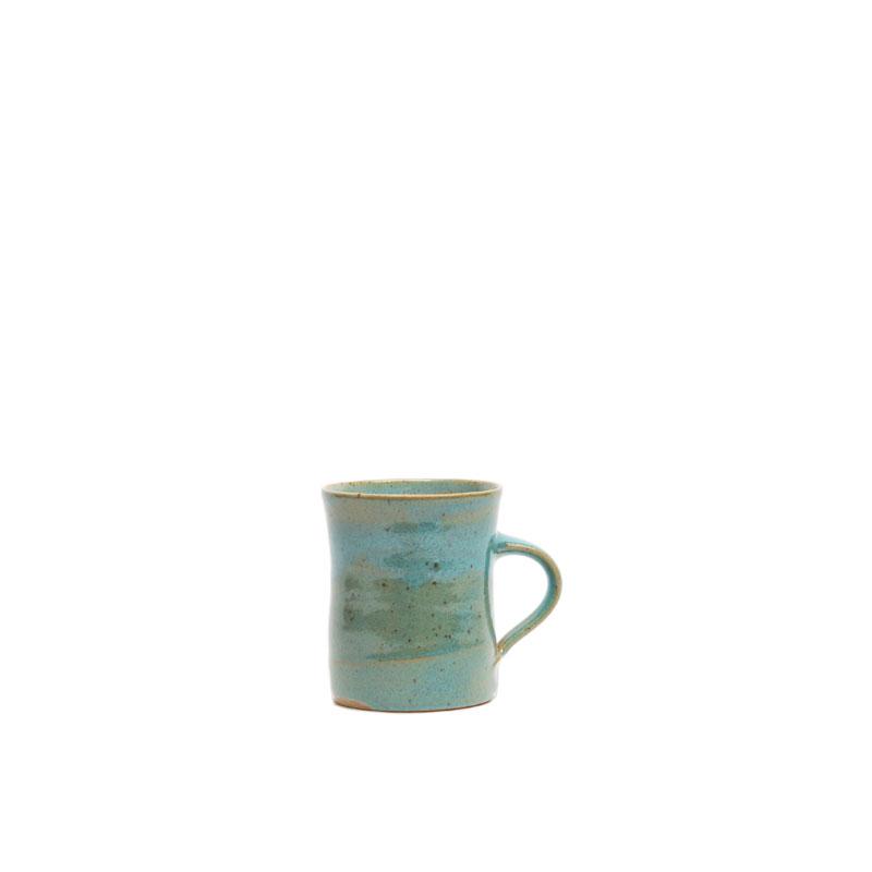 Kaffeebecher türkise Glasur