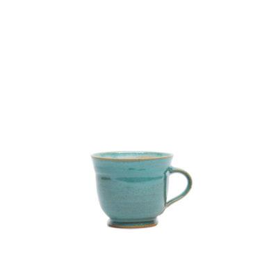 Große Kaffeetasse türkise Glasur